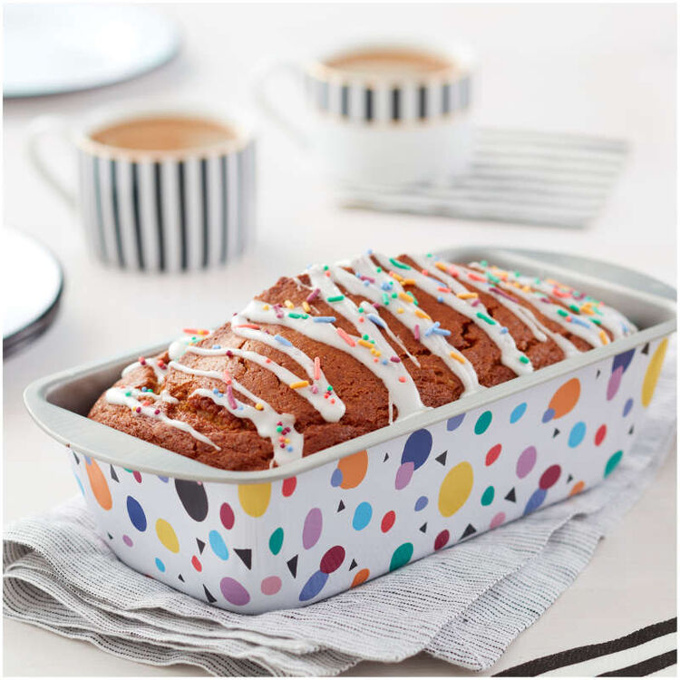 Bake and Bring Geometric Print Non-Stick Loaf Pan