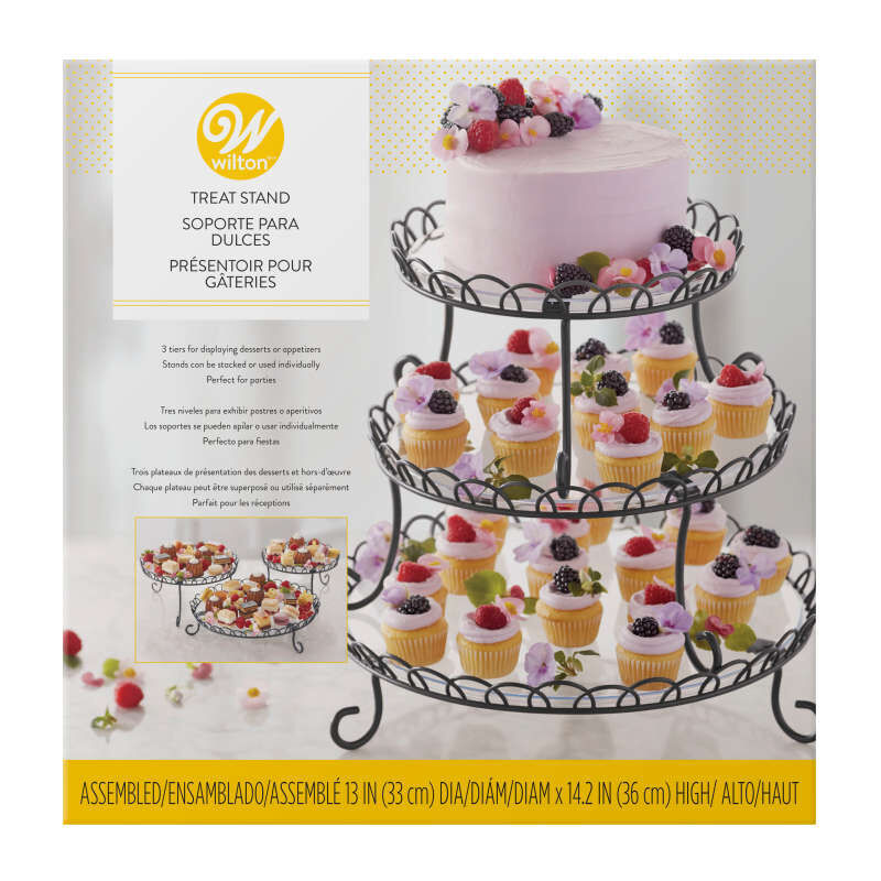 3-Tier Customizable Iron Treat Stand, 13-Inch image number 2