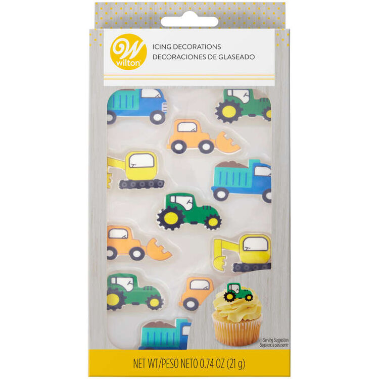 Truck Icing Decorations, 12-Count