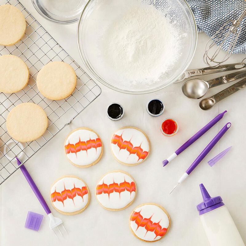 Sugar Cookie Decorating Kit, 15-Piece - Tool Set, Meringue Powder, Icing Colors and Decorating Bottle image number 4