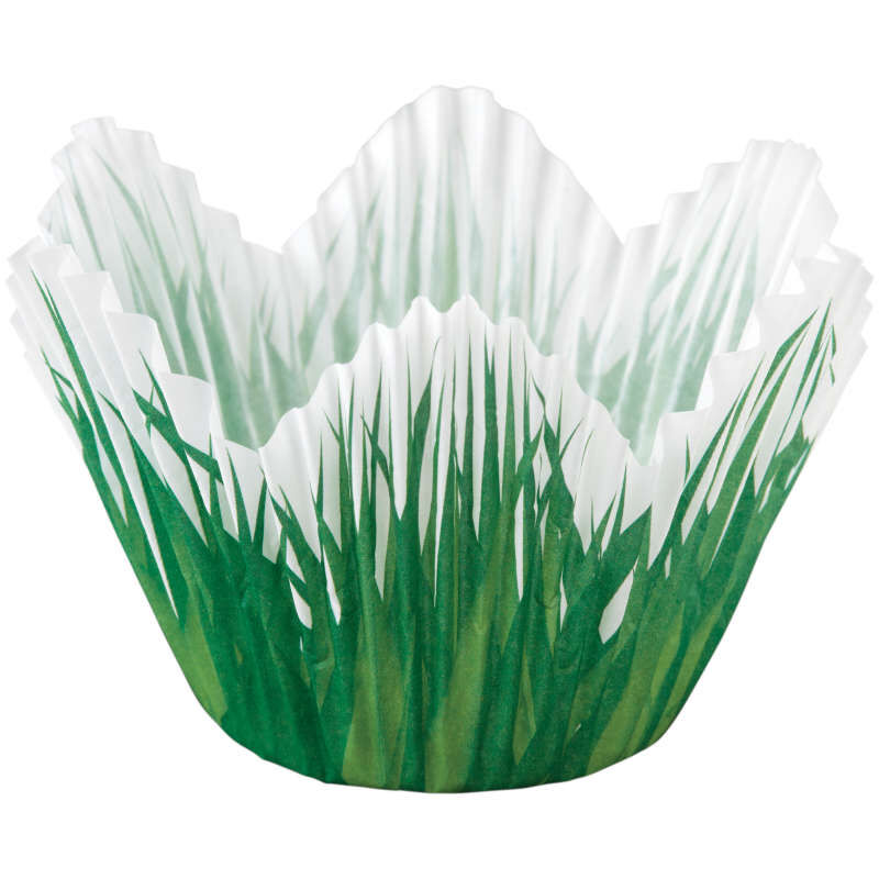 Grass Petal Cupcake Liner Out of Packaging image number 1