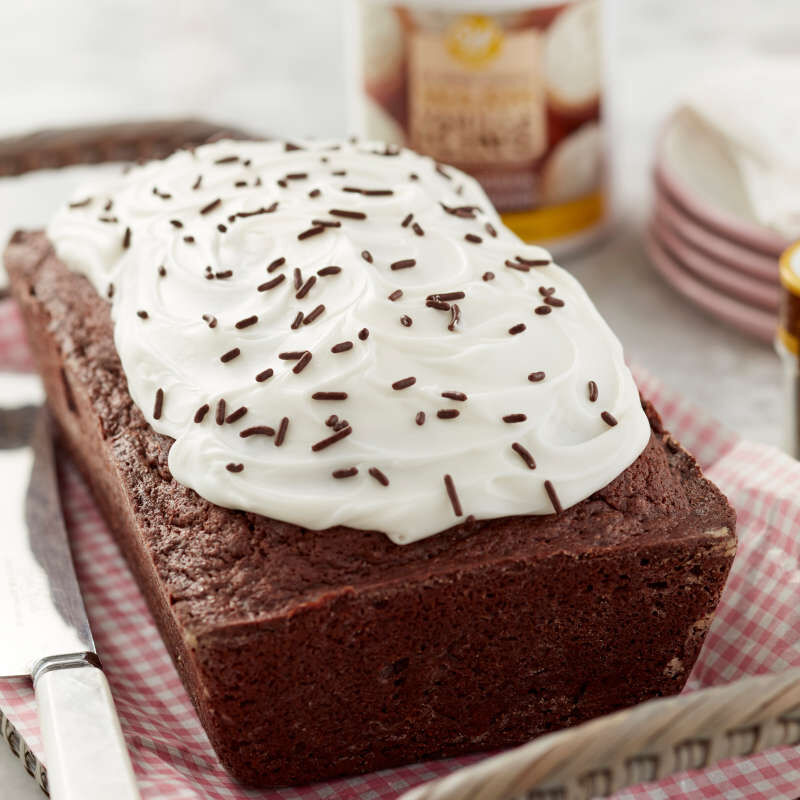 Chocolate Loaf Cake with Vanilla Frosting image number 5