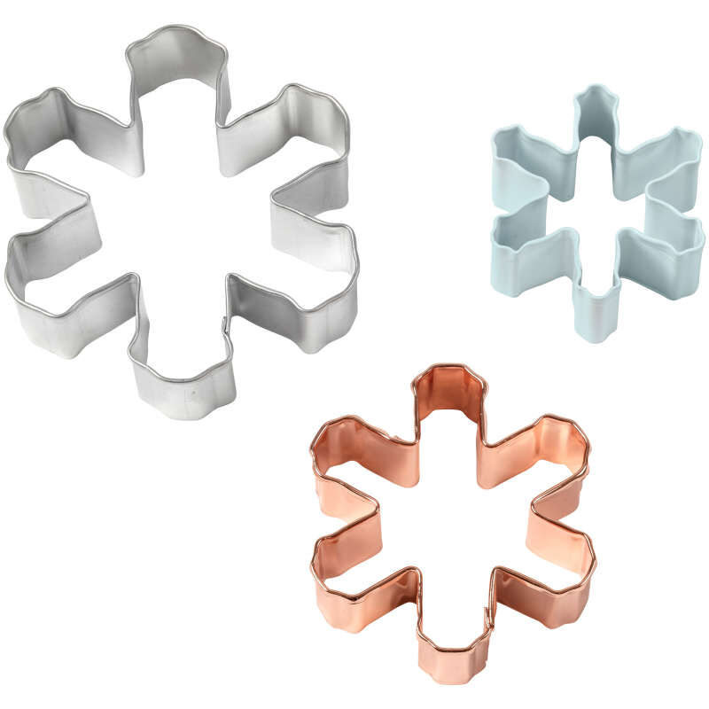 Snowflake Cookie Cutter Set, 3-Piece image number 2