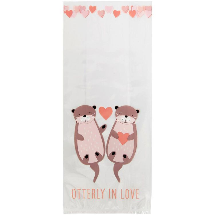 Valentine's Day Otterly in Love Treat Bags, 20-Count