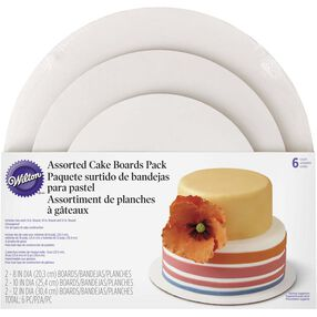 Wilton 3-Tier Assorted Cake Board Set