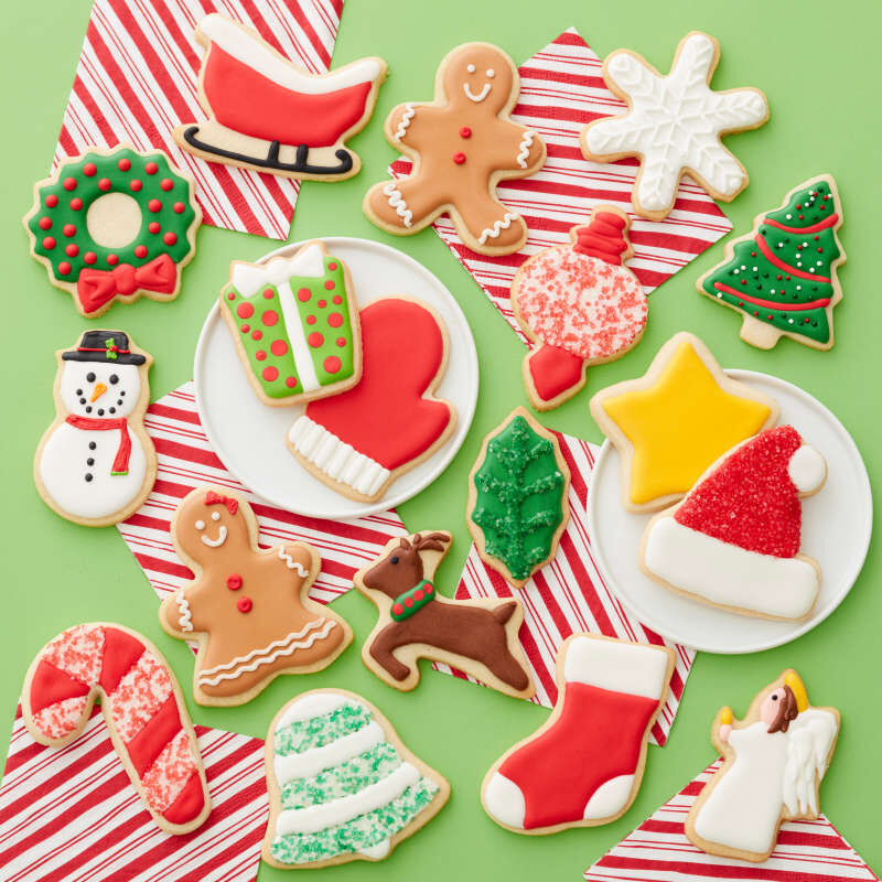 Holiday Shapes Metal Cookie Cutter Set, 18-Piece image number 5