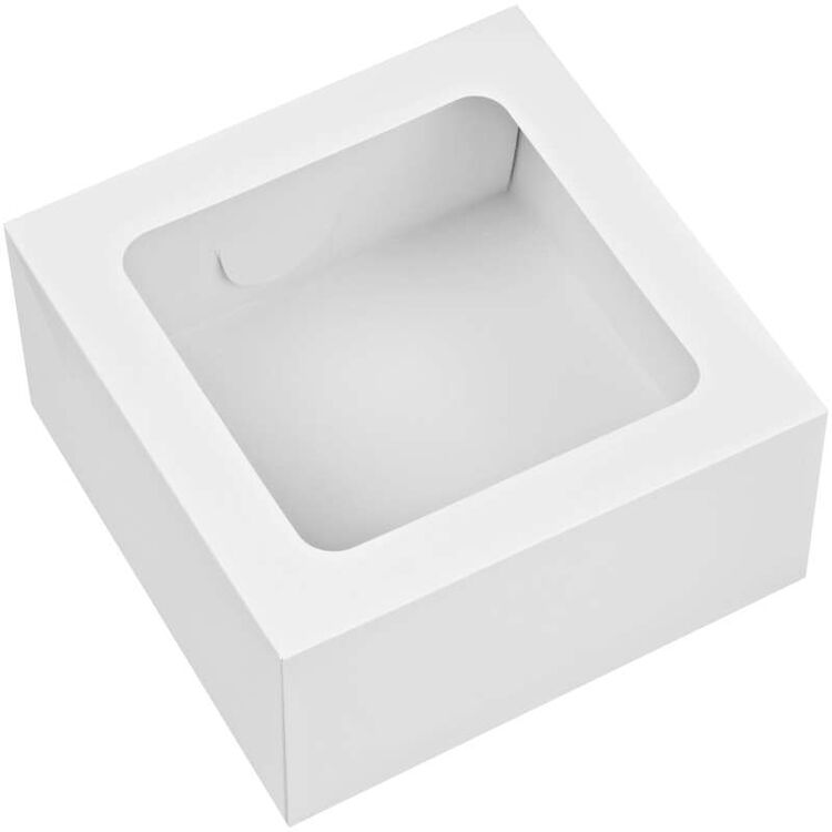 White Square Bakery Boxes Out of Packaging