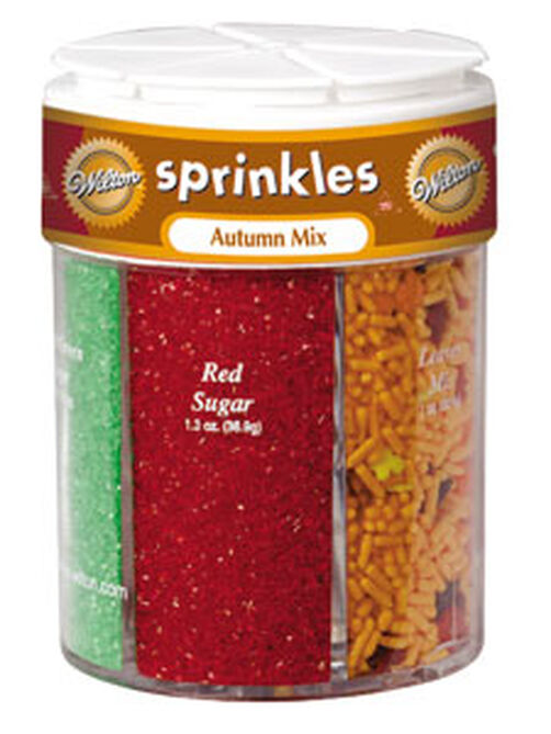 6-Mix Colorful Leaves Sprinkle Assortment