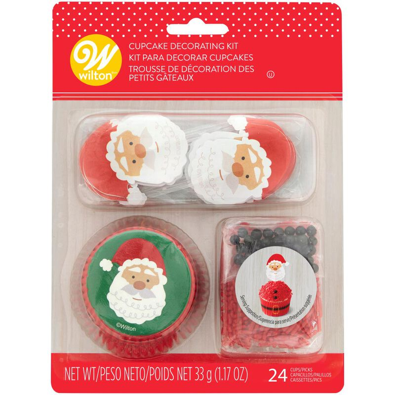 Santa Cupcake Decorating Kit, 1.17 oz image number 2