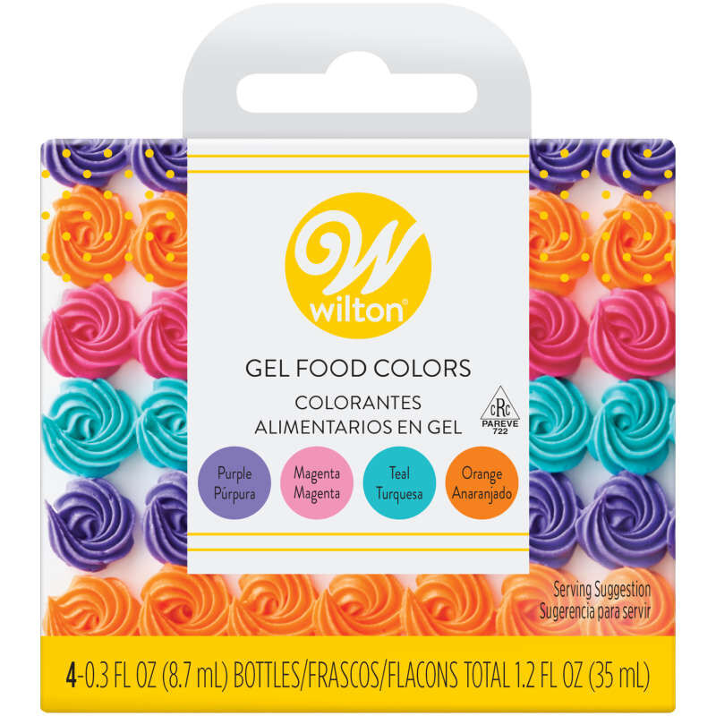 Neon Food Coloring Gel Icing Color Set, 4-Count image number 0