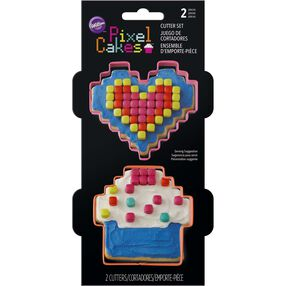 Pixel Cakes Cookie Cutter Set