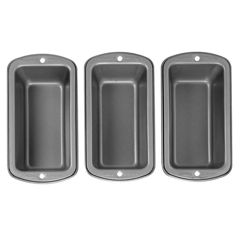 Recipe Right Non-Stick Mini Loaf Pan Set, 3-Piece image number 0