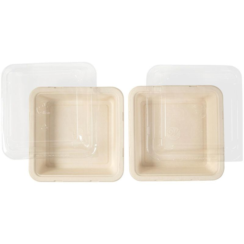 Disposable 8-Inch Square Baking Pans with Lids, 2-Count image number 2