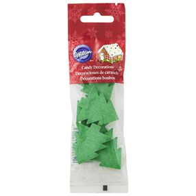 Jumbo Green Trees Icing Decorations