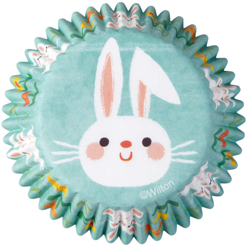 Easter Bunny Cupcake Liners, 75-Count image number 0