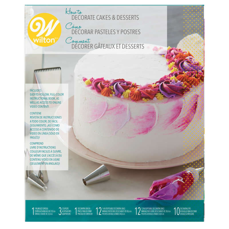 How to Decorate Cakes and Desserts Kit, 39-Piece image number 1