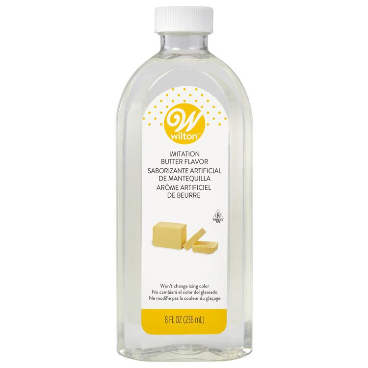 Clear Imitation Butter Flavoring, 8 oz.