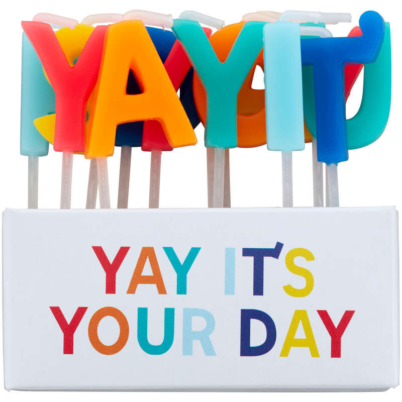 """""""Yay It's Your Day"""" Birthday Candle Pick Set, 13-Count image number 1"""