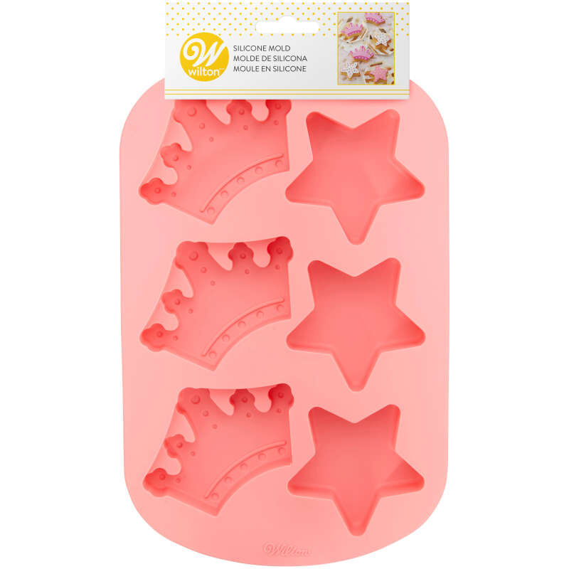 Royal Crowns and Stars Silicone Cake Mold, 6-Cavity image number 2