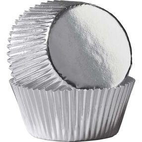 Silver Foil Cupcake Liners