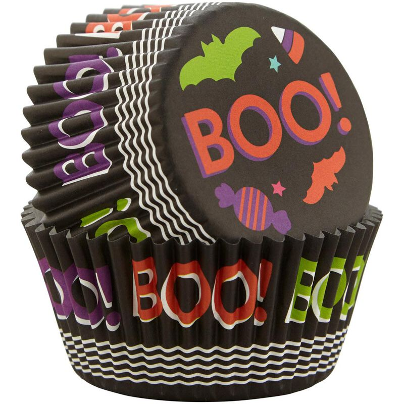 Boo! Halloween Standard Cupcake Liners, 75-Count image number 2