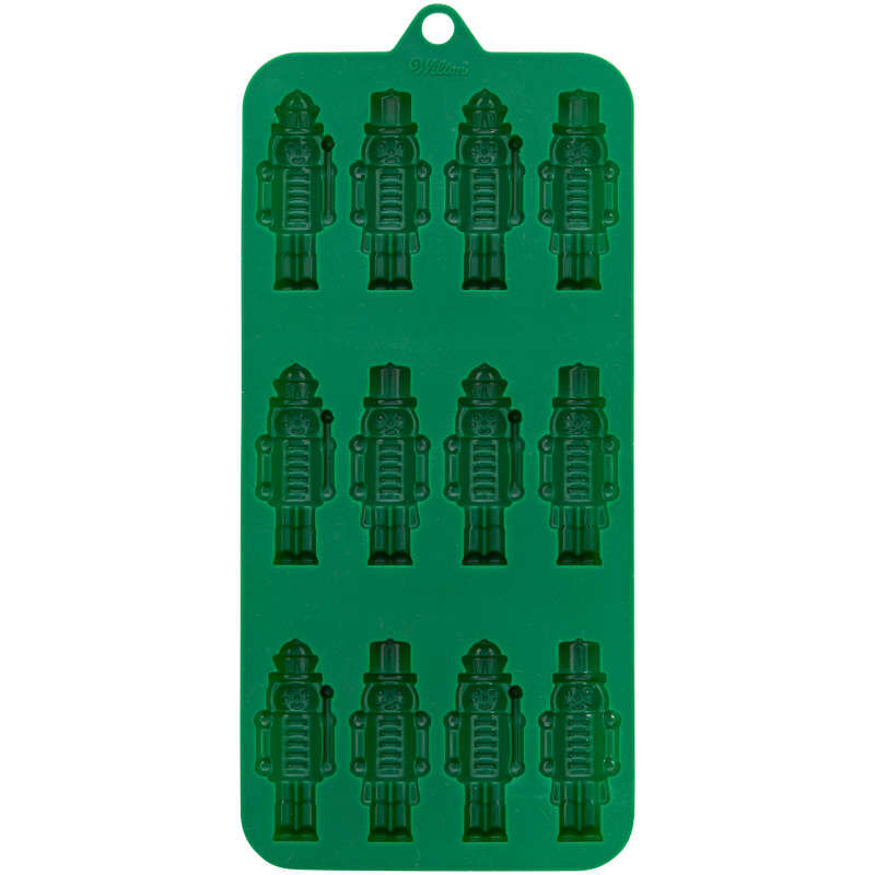 Christmas Nutcracker Silicone Candy Mold, 12-Cavity image number 0