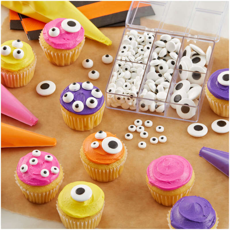 Edible Black and White Candy Eyeball Sprinkles, 2.75 oz. image number 4