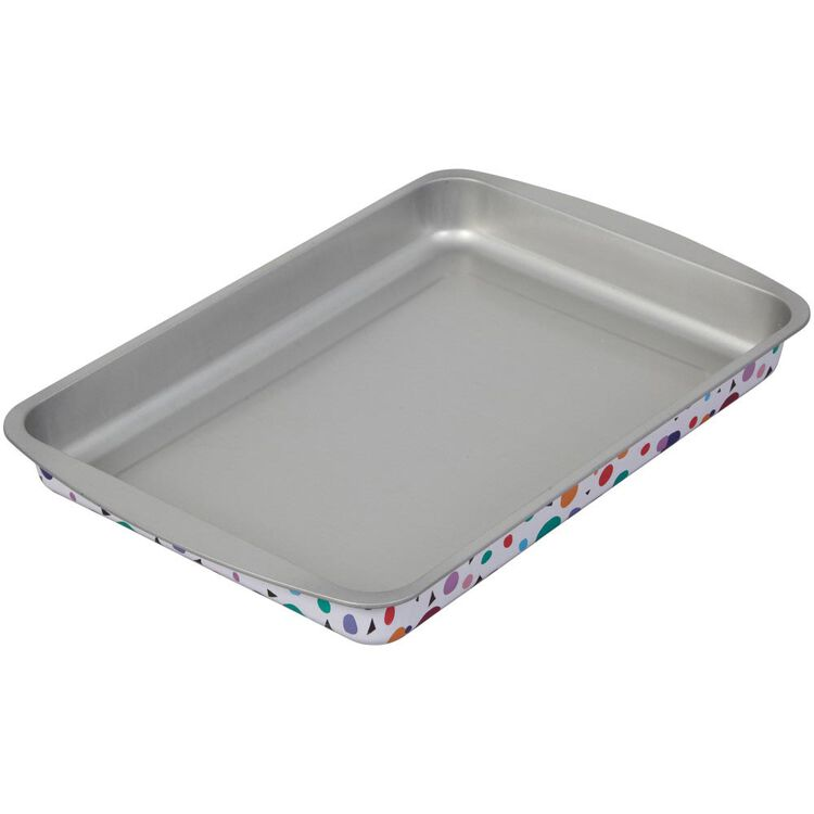 Bake and Bring Geometric Print Non-Stick 13 x 9-Inch Oblong Pan