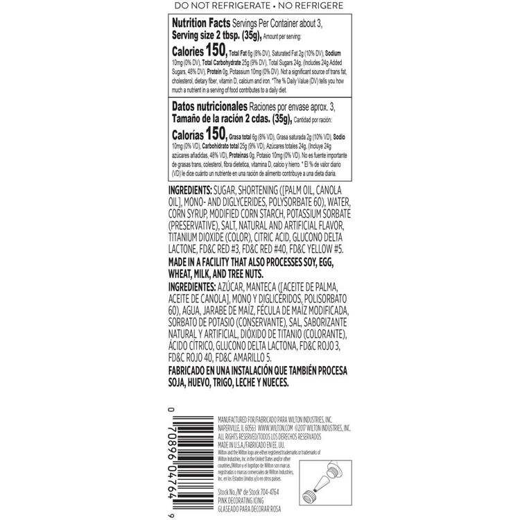 Pink Ready-to-Use Icing Tube, 4.25 oz.