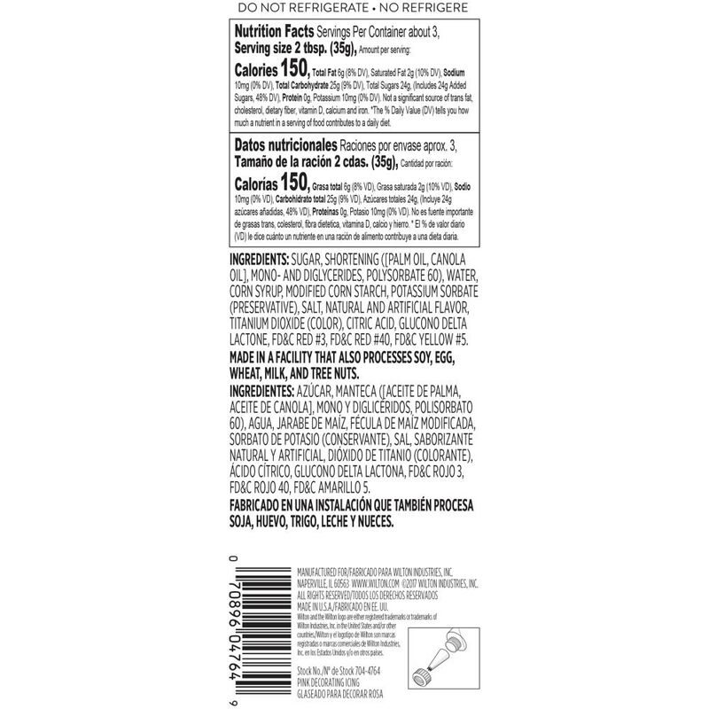 Pink Ready-to-Use Icing Tube, 4.25 oz. image number 1