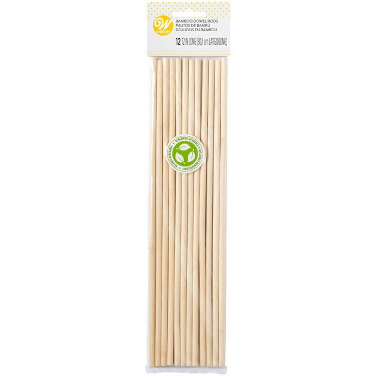 Bamboo Dowel Rods, 12-Count