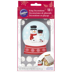 Giant Snow Globe Icing Decorations