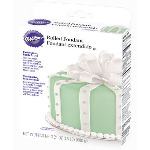 Ready-To-Use Pastel Green Rolled Fondant