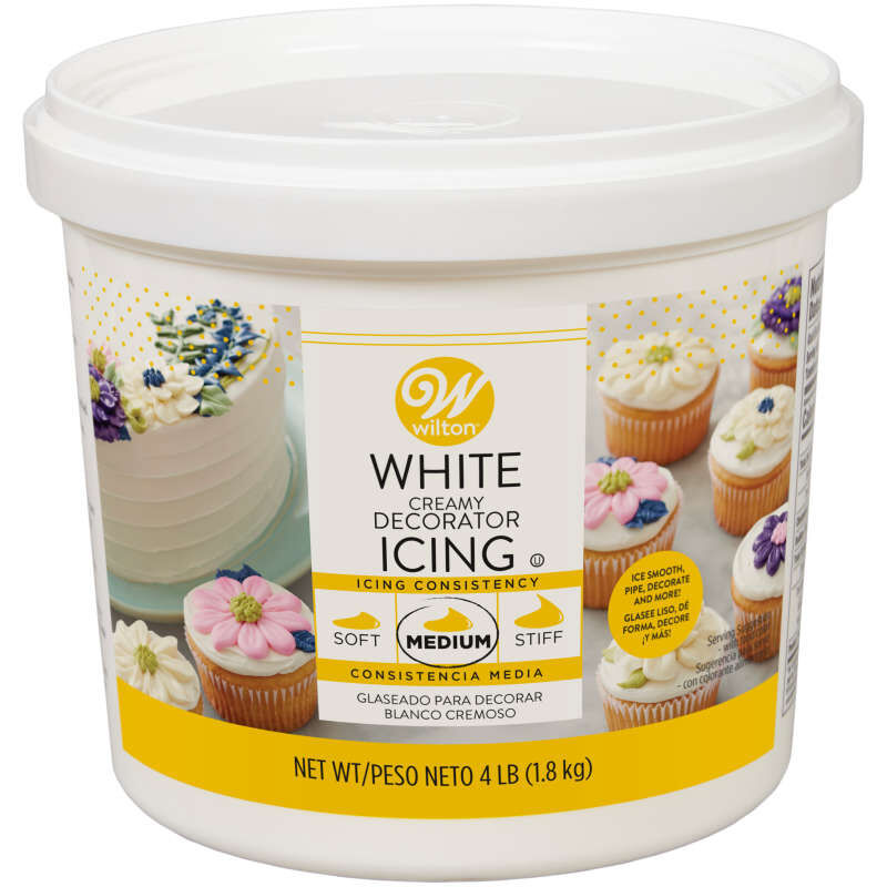 Creamy White Decorator Buttercream Icing, 4 lb. image number 0