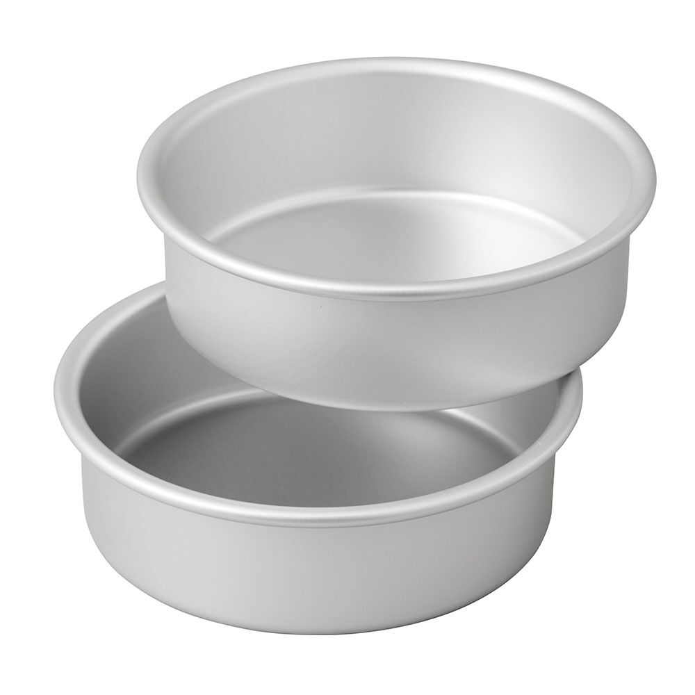 Small And Tall Aluminum Cake Pans 2 Piece Layer Cake
