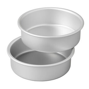 Small and Tall Aluminum Cake Pans, 2-Piece - Layer Cake Pan Set