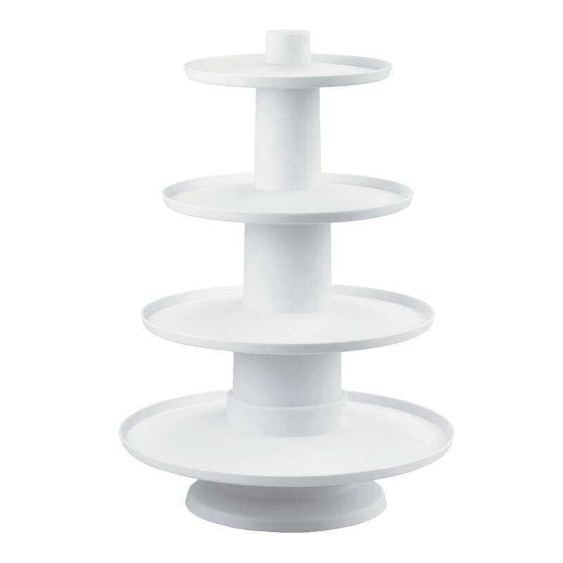 Stacked 4-Tier Cupcake and Dessert Tower image number 0