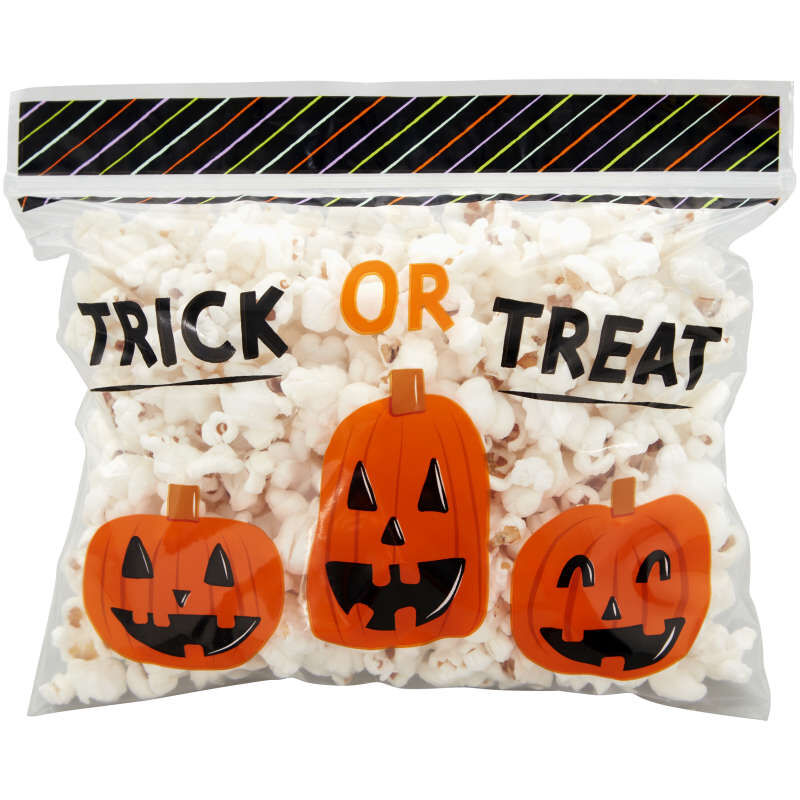 Trick or Treat Resealable Halloween Treat Bags, 20-Count image number 3