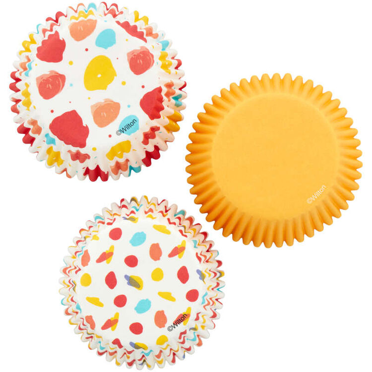 Large Polka Dot, Small Polka Dot and Yellow Standard Baking Cups, 75-Count