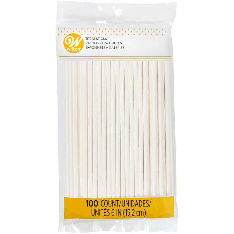 White 6-Inch Cake Pop Sticks, 100-Count image number 0