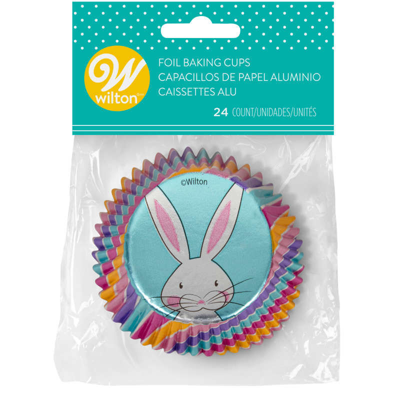 Easter Bunny Foil Cupcake Liners, 24-Count image number 1