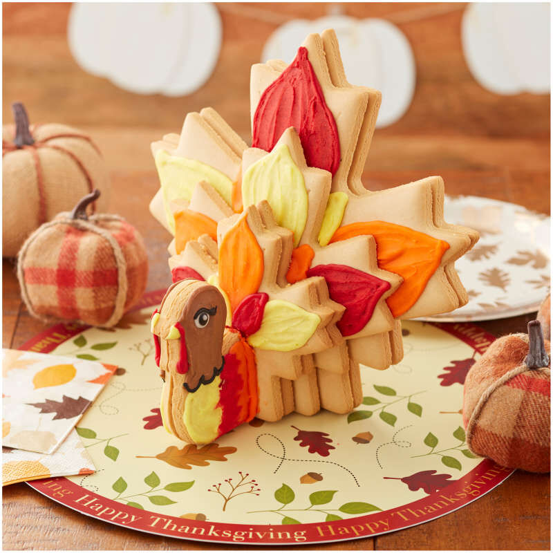 Build It Yourself Turkey Centerpiece Vanilla Cookie Decorating Kit image number 4