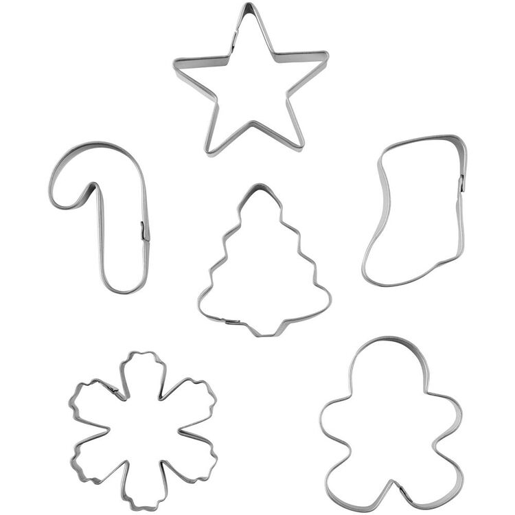Mini Holiday Cookie Cutter Set, 6-Piece