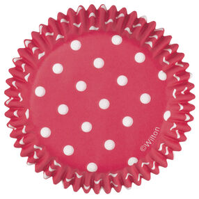 Red Polka Dots Cupcake Liners