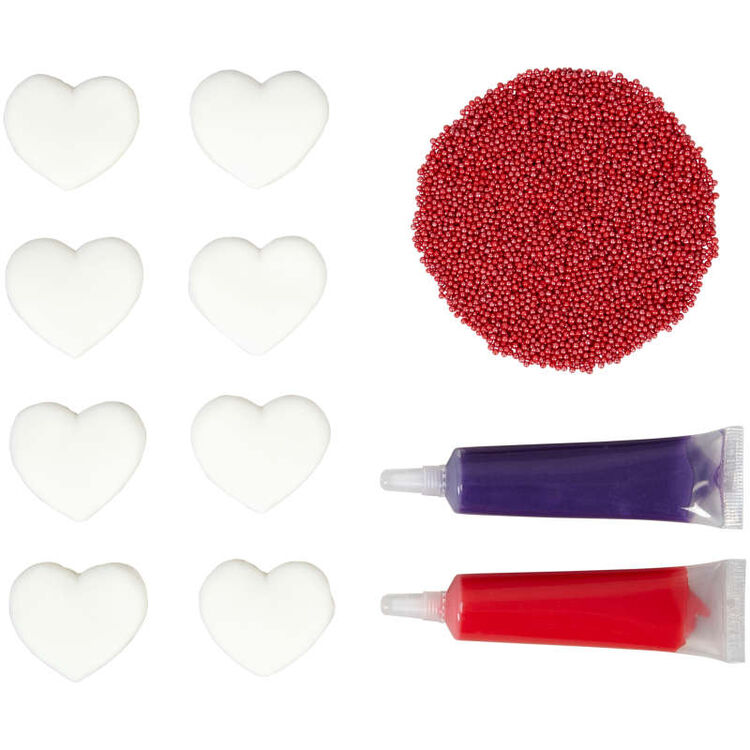Valentine's Day Watercolor Heart Decorating Kit