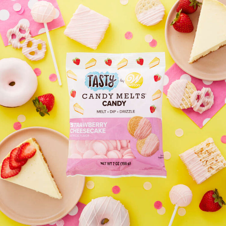 Tasty by Strawberry Cheesecake Candy Melts Candy, 7 oz.