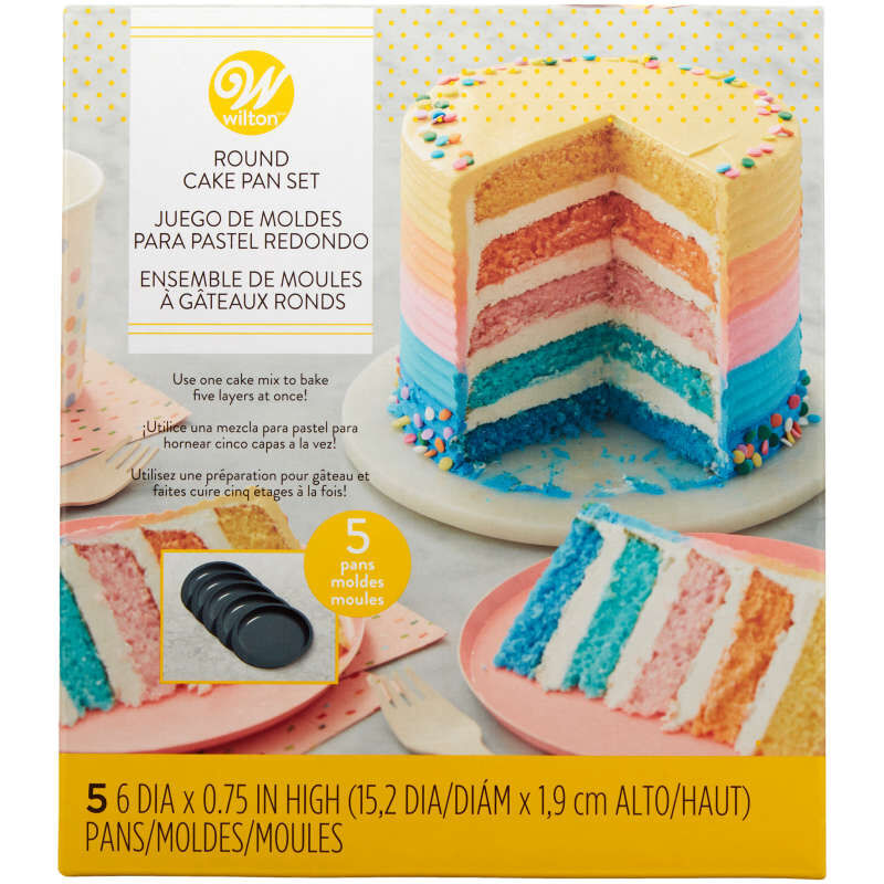 Easy Layers 5-Piece Layer Cake Pan Set, 6-Inch image number 0