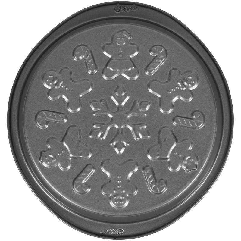Round Embossed Christmas Cake Pan, 9-Inch image number 1