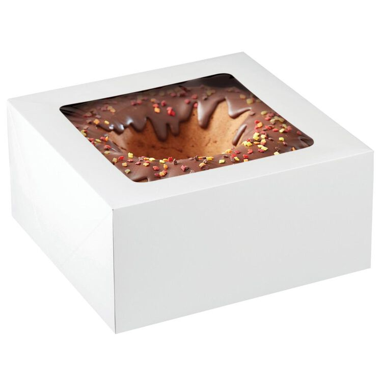 12-Inch Cake Box with Window for 10-Inch Cake, 2-Piece Set