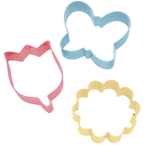 3 Pc. Flower Cookie Cutter Set